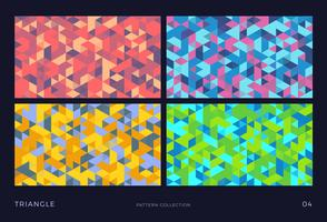 Triangle vector mosaic backgrounds set