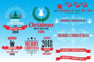 Christmas logo Vector for banner
