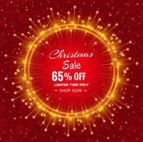 Merry christmas sale with card beautiful design