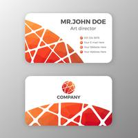 Abstract mesh and polygonal name card template design. Vector il