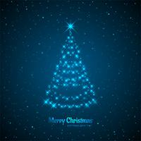 Merry christmas card with decorative tree design