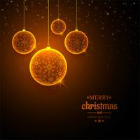 Merry christmas ball celebration background vector
