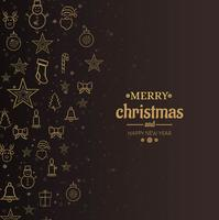 Merry christmas card decorative background vector