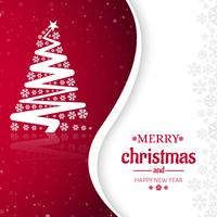 Merry Christmas tree celebration greeting card design