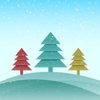Merry Christmas tree celebration greeting card background