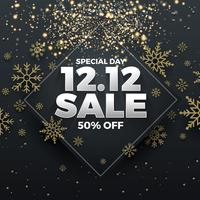 12.12 Shopping day sale banner background vector
