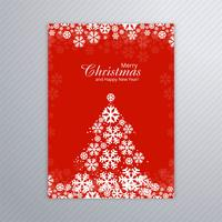 Merry christmas card brochure design vector