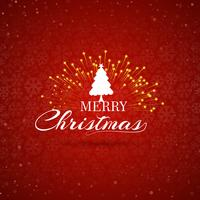 Merry Christmas tree celebration greeting card background