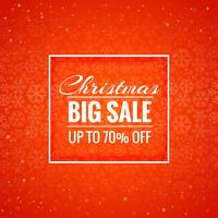 Merry christmas card big sale background vector