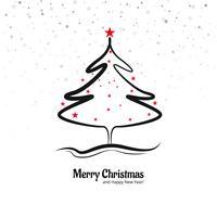 Vacker god jul kreativ träddesign