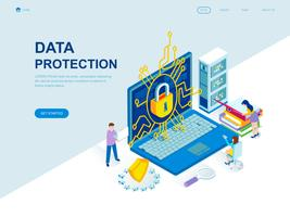 Modern flat design isometric concept of Data Protection