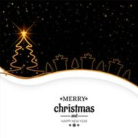 Elegant merry christmas background card vector