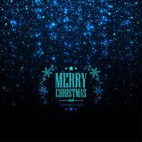 Beautiful glitters merry christmas card background