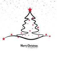 Beautiful merry christmas tree background vector