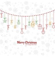 Beauitful card merry christmas background vector