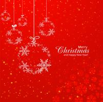Beautiful merry christmas decorative ball background