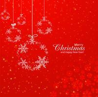 Beautiful merry christmas decorative ball background