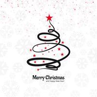 Beautiful merry christmas decorative tree design