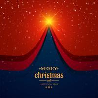 Schöner Kartenbaum-Festivalhintergrundvektor der frohen Weihnachten