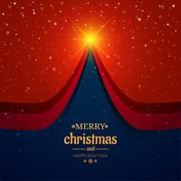 Beautiful merry christmas card tree festival background vector