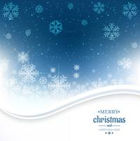 Beautiful glitters merry christmas card with snowflake backgroun