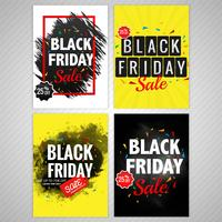 Elegant colorful black friday background collection design