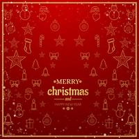 Beautiful Merry christmas greeting card  background vector