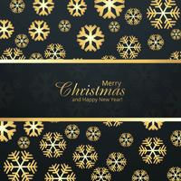 Merry christmas card celebration with snowflake background