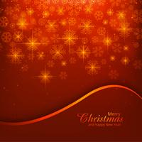 Merry christmas card with snowflake shiny background vector