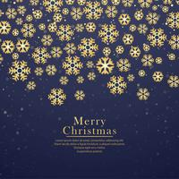 Decorative merry christmas snowflake festival background