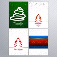 Beautiful merry christmas card brochure set design