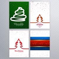 Vacker glatt julkort broschyr set design