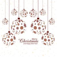 Merry christmas snowflake ball festival background