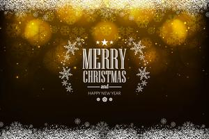 Beautiful merry christmas festival background vector