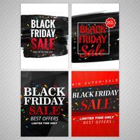 Diseño de conjunto de folleto de venta de viernes negro abstracto