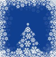 Abstract festival merry christmas card snowflake and tree backgr