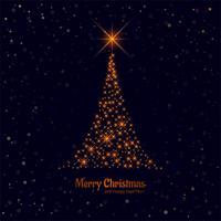 Merry christmas beautiful shiny tree background vector