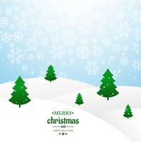 Merry christmas card tree with glitters background vector