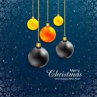 Beautiful festival merry christmas colorful ball design
