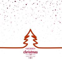 Elegant merry christmas tree card background