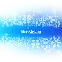 Beautiful merry christmas festival with snowflake background