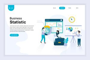 Modern flat design concept of Business Statistic