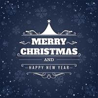 Merry christmas festival glitters background vector