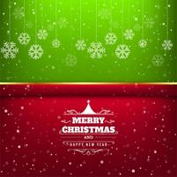 Elegant merry christmas card colorful background
