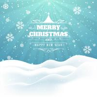 Beautiful glitters Merry christmas card design vector