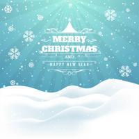 Beautiful glitters Merry christmas card design vector