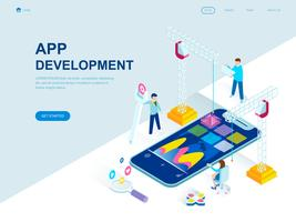 Modern flat design isometric concept of App Development