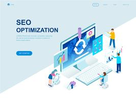 Modern flat design isometric concept of SEO Analysis