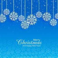 Merry christmas card with beautiful snowflake background