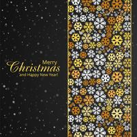 Merry christmas colorful snowflake card background illustration